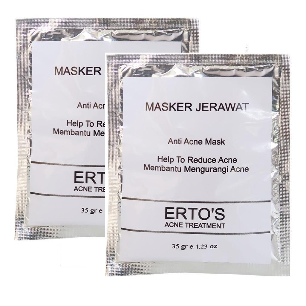 2 Pcs Ertos Masker Jerawat + VIVA Air Mawar - 2 ...