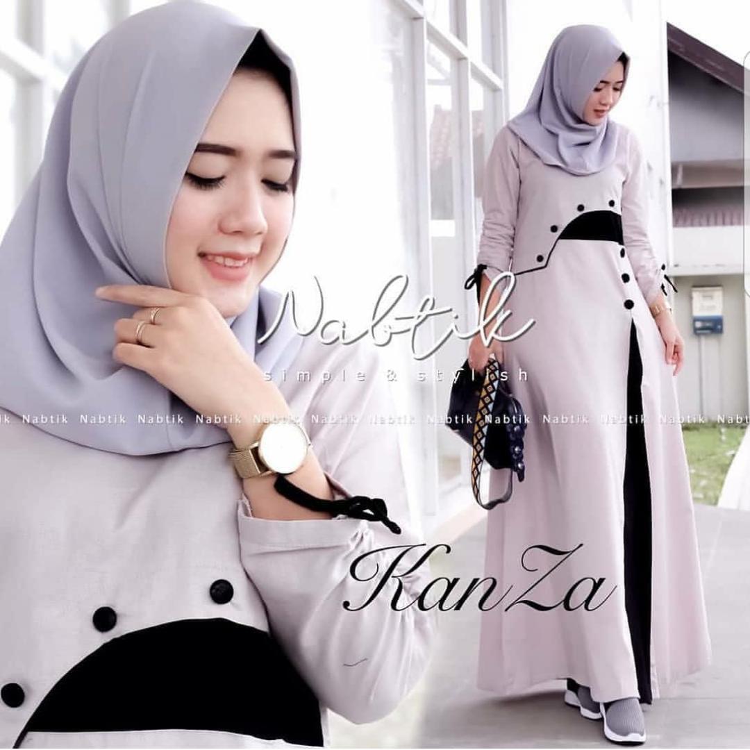 baju gamis syari kanza dress murah