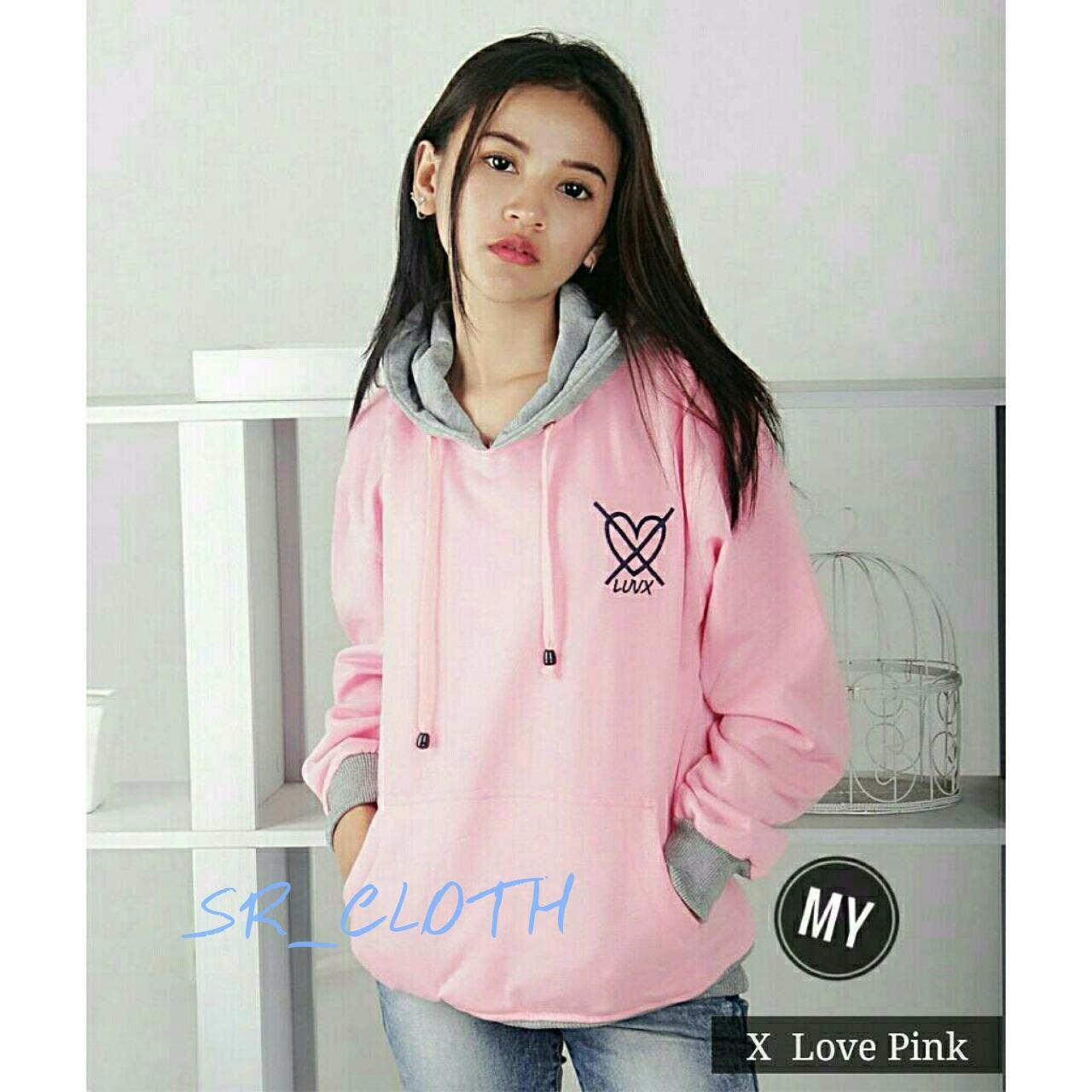 Diskon Sr Cloth Jaket Sweater Wanita Korea X Love Pink Sr Cloth