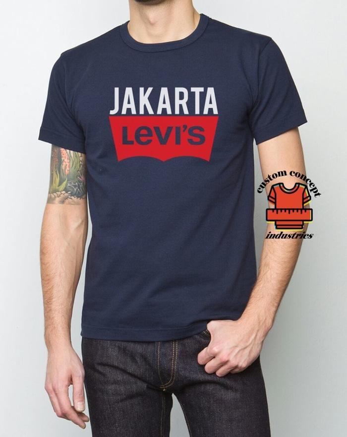T-Shirt Kaos Jakarta Levis- Cotton Combed 20S 30S Unisex