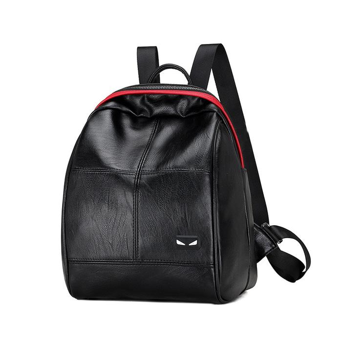 Backpack FENDI GUCCI hitam - Tas ransel wanita kulit impor murah TFM20