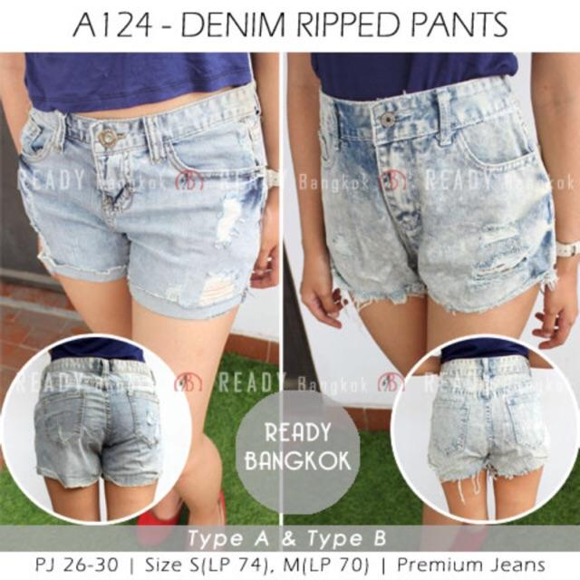 JUAL RUGI SALE PROMO! Denim Ripped Jeans IMPORT BANGKOK GOOD QUALITY LIMITED WOMEN SHORT HOT JEANS