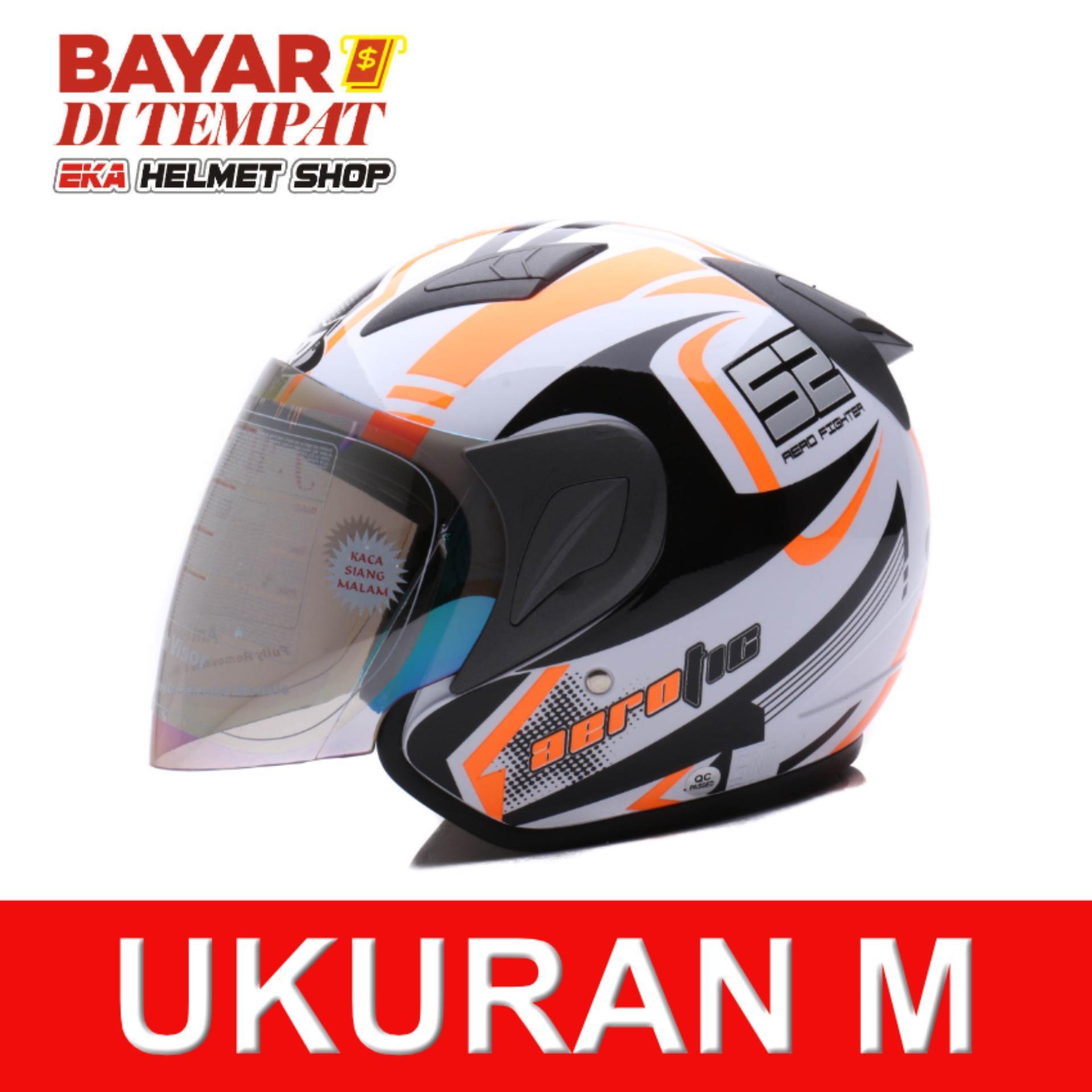 Beli Msr Helmet Javelin Aerotic Putih Hitam Oren Cicilan