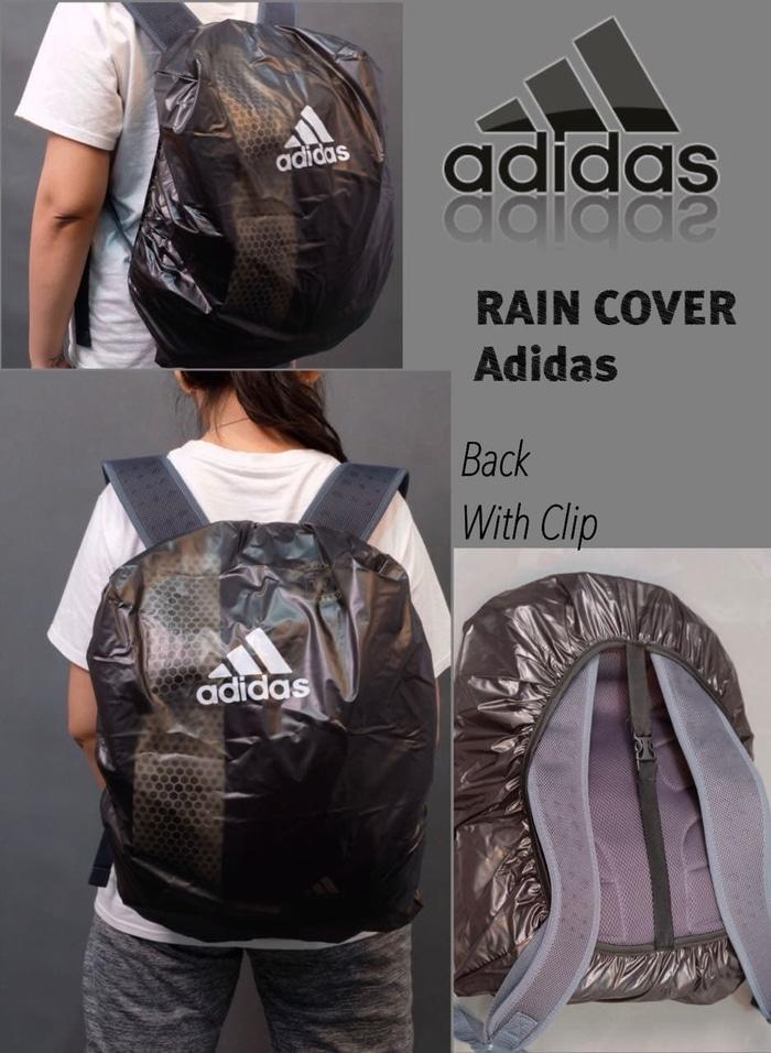 COVER BAG ADIDAS / RAIN COAT / WATERPROOF TAS / MANTEL JAS HUJAN TAS