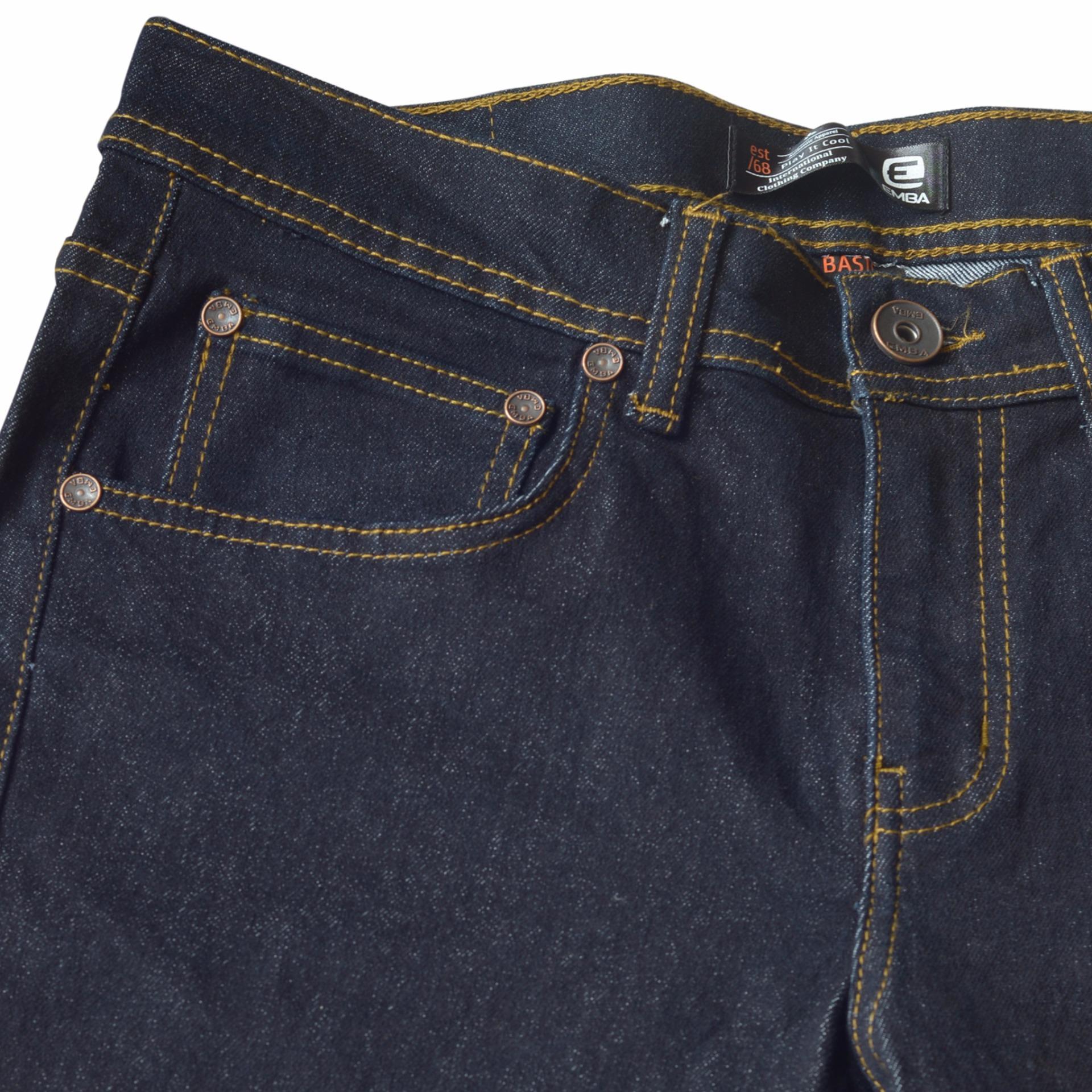 Emba Jeans Celana Panjang Pria Bs 081 Jordan Regular 61810901 25 Fm328 Basic Upd Warna Heavy Stom Navy 27 071 Morgan Slim Fit Garment