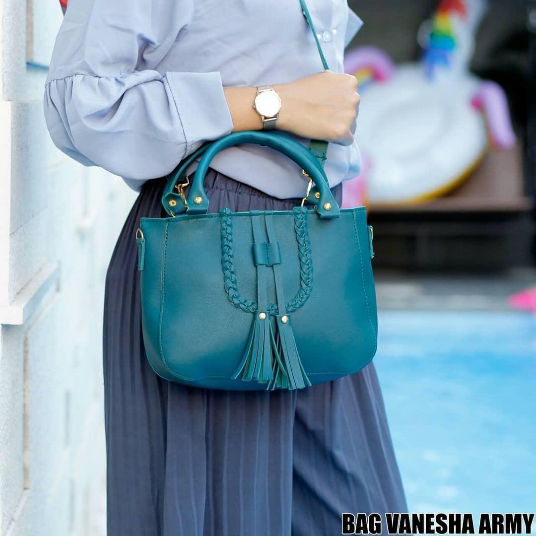 Detail Gambar Ubay Shop Tas Selempang Wanita / Tote VaneshaSolid Shoulder Bag Terbaru