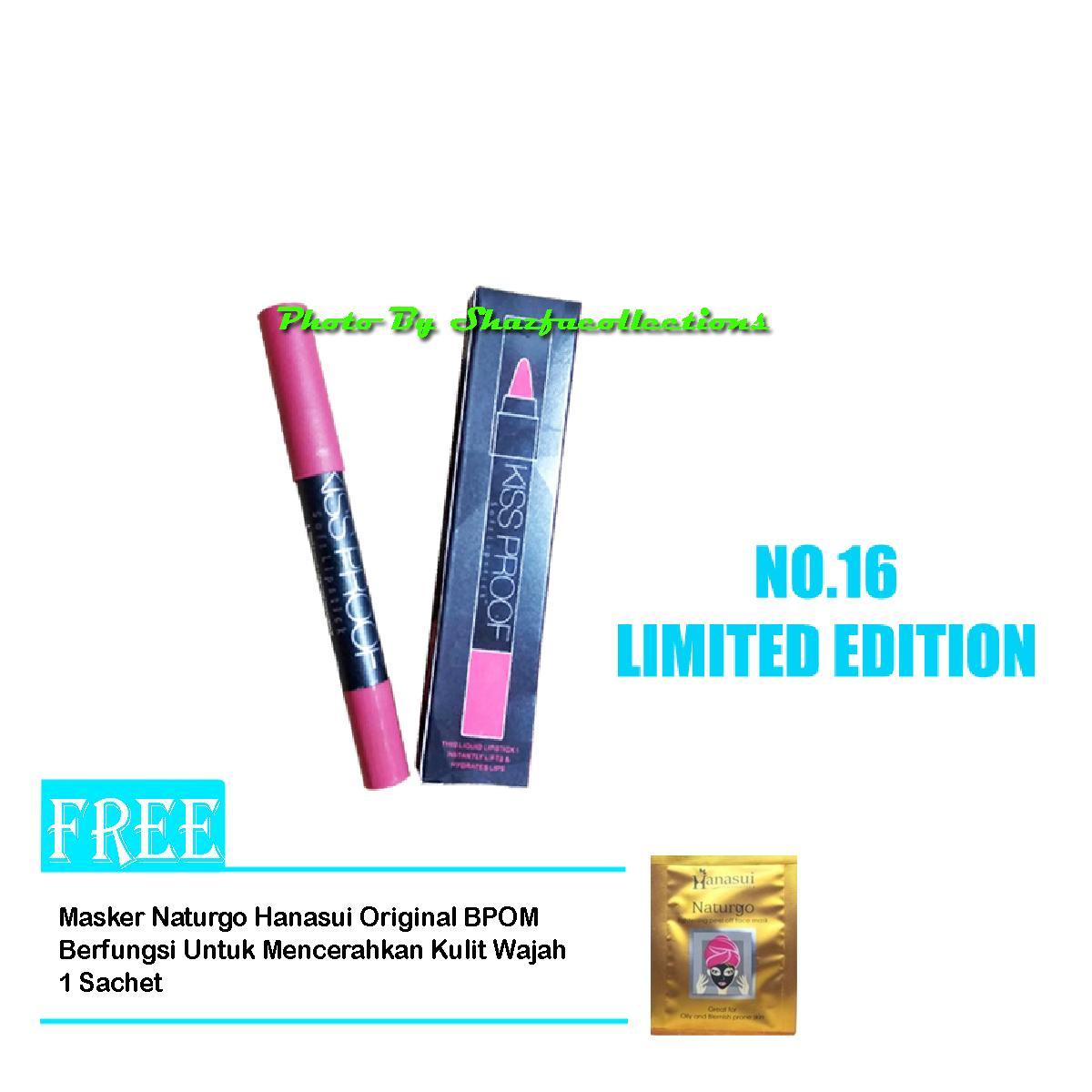 Features Menow Kiss Proof No 16 Limited Edition Original Free Masker No16 Lipstick Matte Me Now Kissproof Lipstik Naturgo Hanasui 3