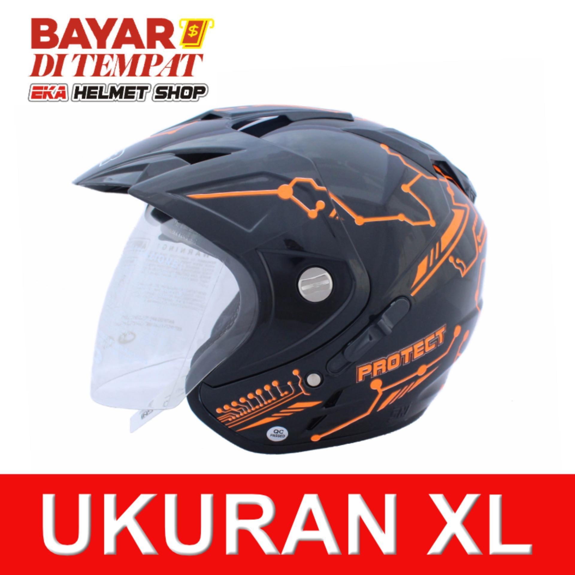 Beli Msr Helmet Impressive Protect Double Visor Hitam Oren Neon Cicil