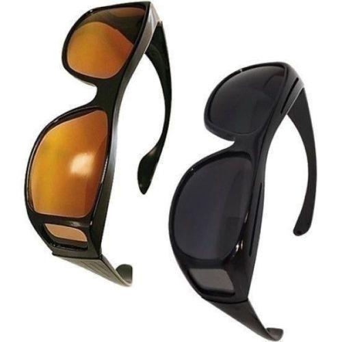 Kacamata Berkendara Anti Silau Siang & Malam HD Vision Sunglasses 2 Pcs