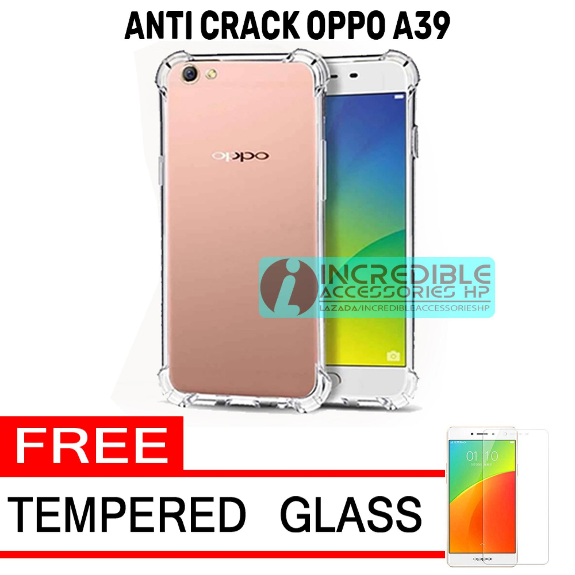 Case Anti Shock / Anti Crack Elegant Softcase for Oppo A39 - White Clear + Free