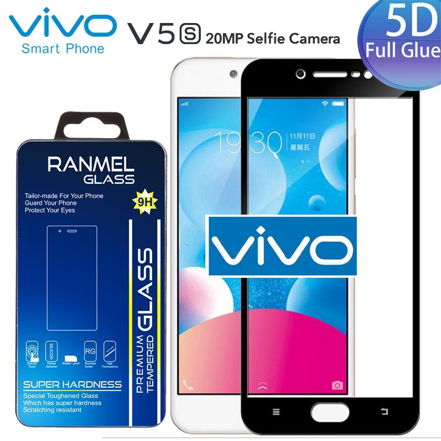 Anti Gores Kaca ( FULL LEM ) For VIVO V5s Full Cover Tempered Glass ( FULL