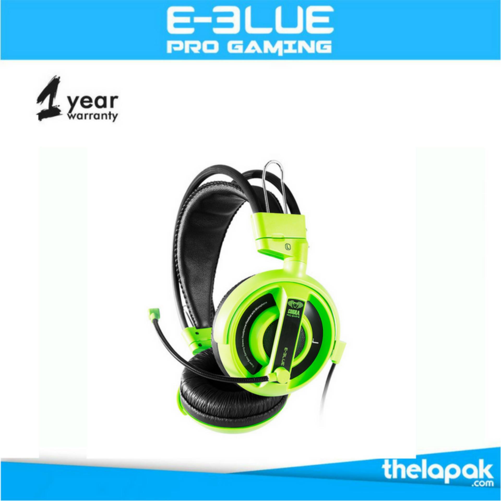 Toko E Blue Cobra Gaming Headset Hijau Termurah Indonesia