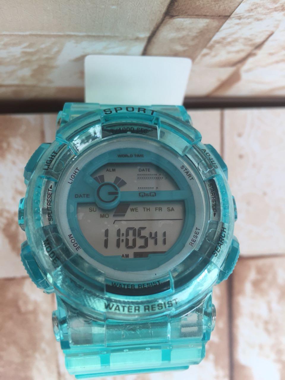 Jam Tangan Wanita Q&Q VQ007 Digital Rubber Strap - 2