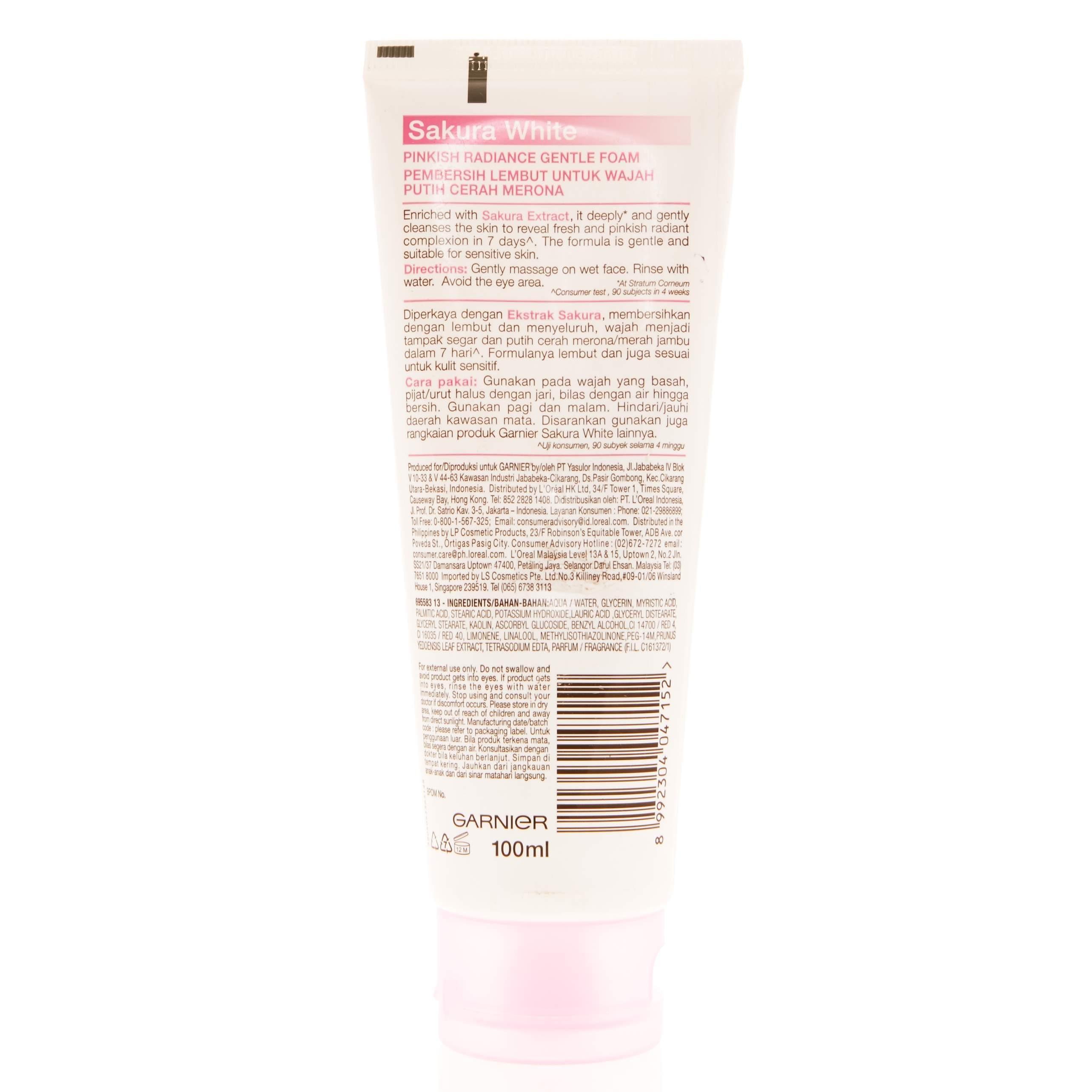 ... GARNIER Facial Foam Sakura White 100ml - 3