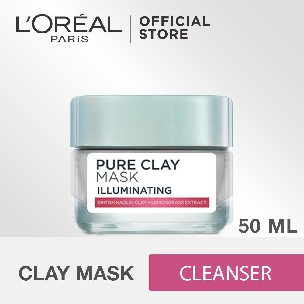 Toko L Oreal Paris Pure Clay Illuminating Mask 50Ml Termurah