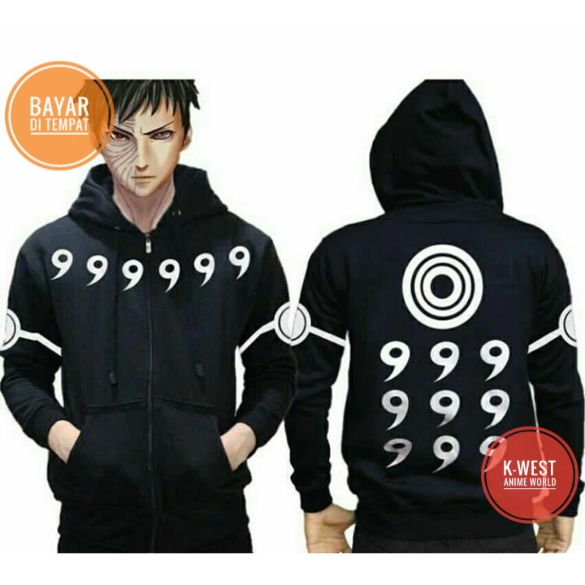 Jual Jaket Anime Naruto Rikudou Sennin Black Hoodie Best Seller Branded Original