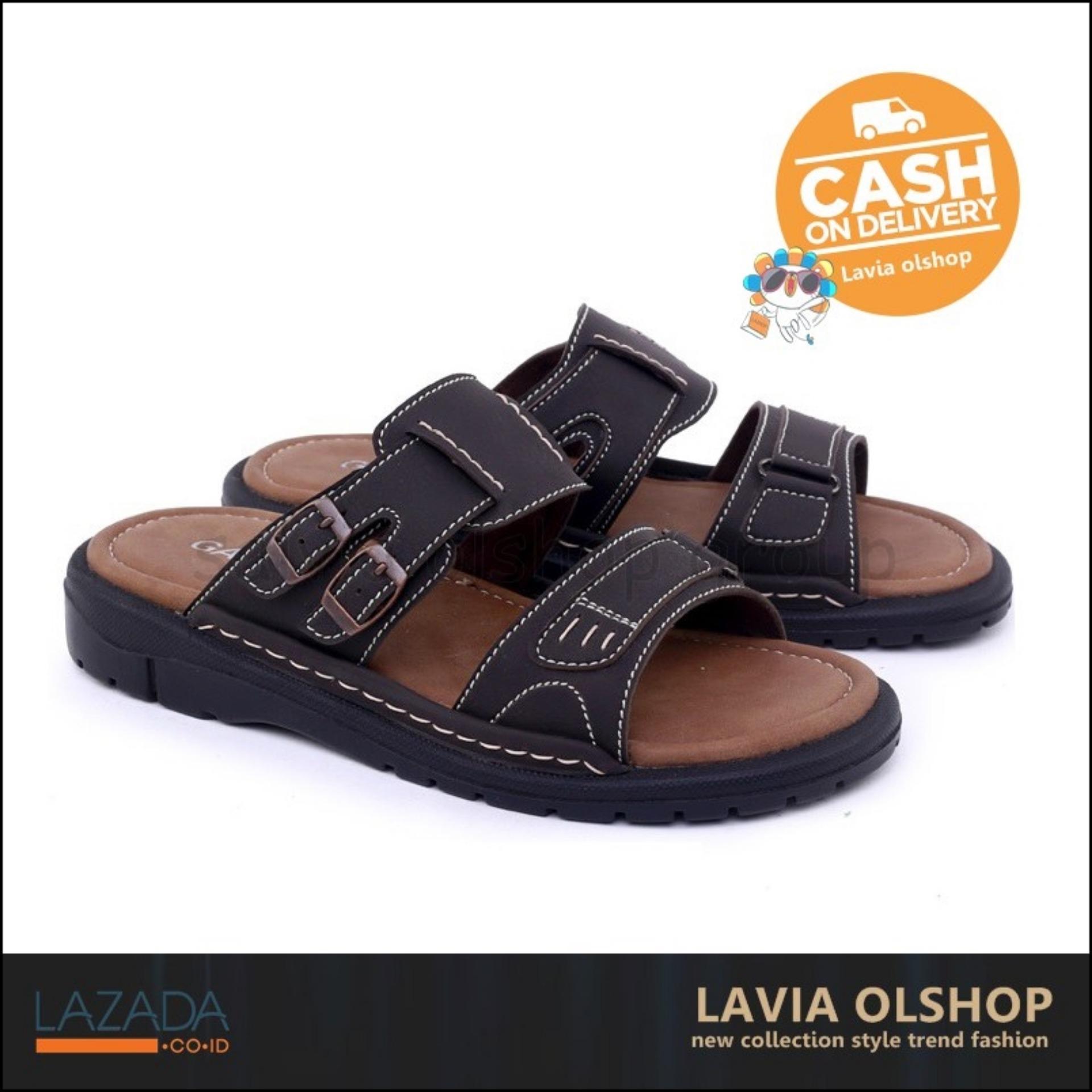 Shoes Sandal Pria Casual Keren Dan Modis Model Terbaru GAS 3439 - Coklat