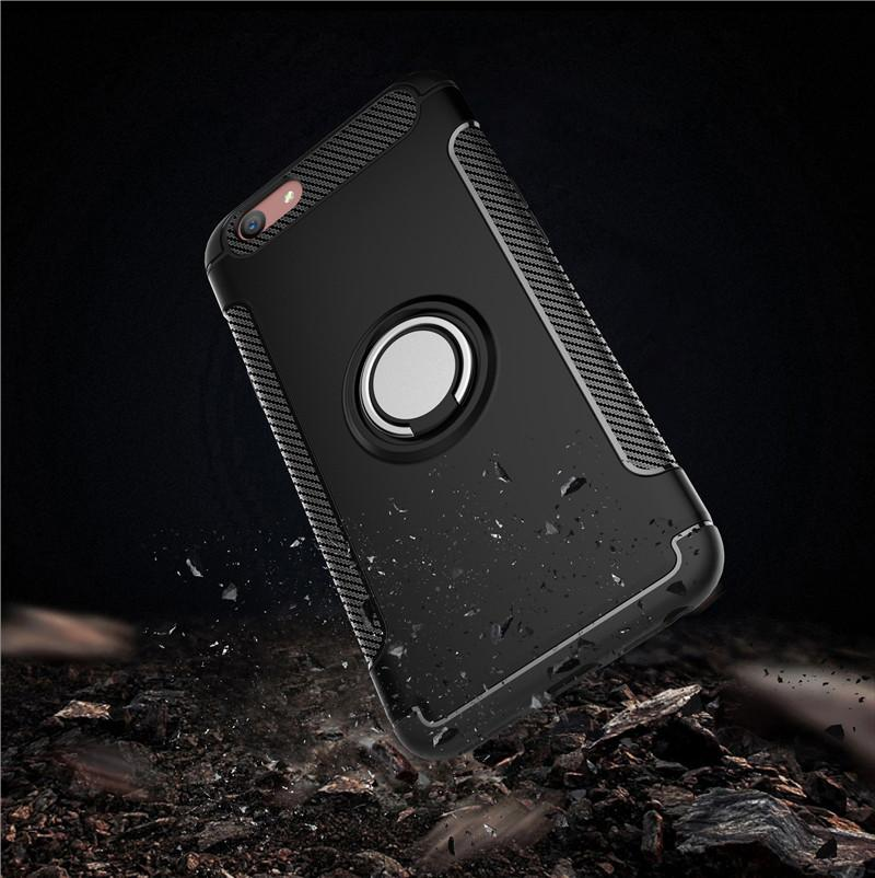 ... Ambigo Case Oppo F1s ( A59 ) Ring Carbon Kickstand Hybrid - 3 ...