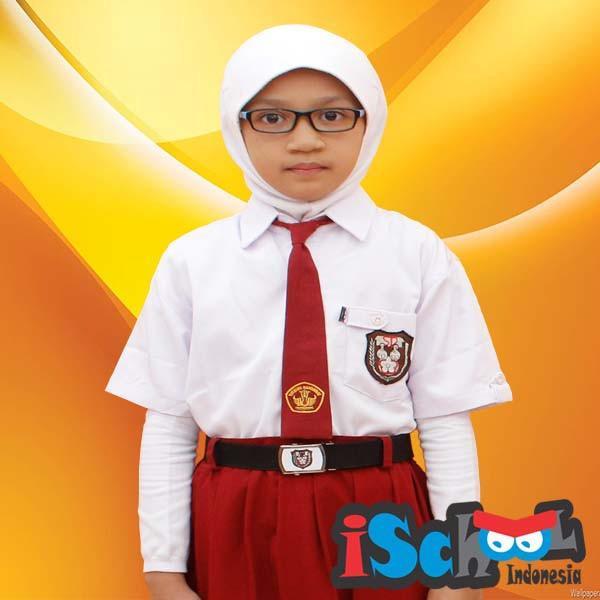 Jual Ischool Baju Sekolah Sd 7 9 Lengan Pendek Ischool Grosir