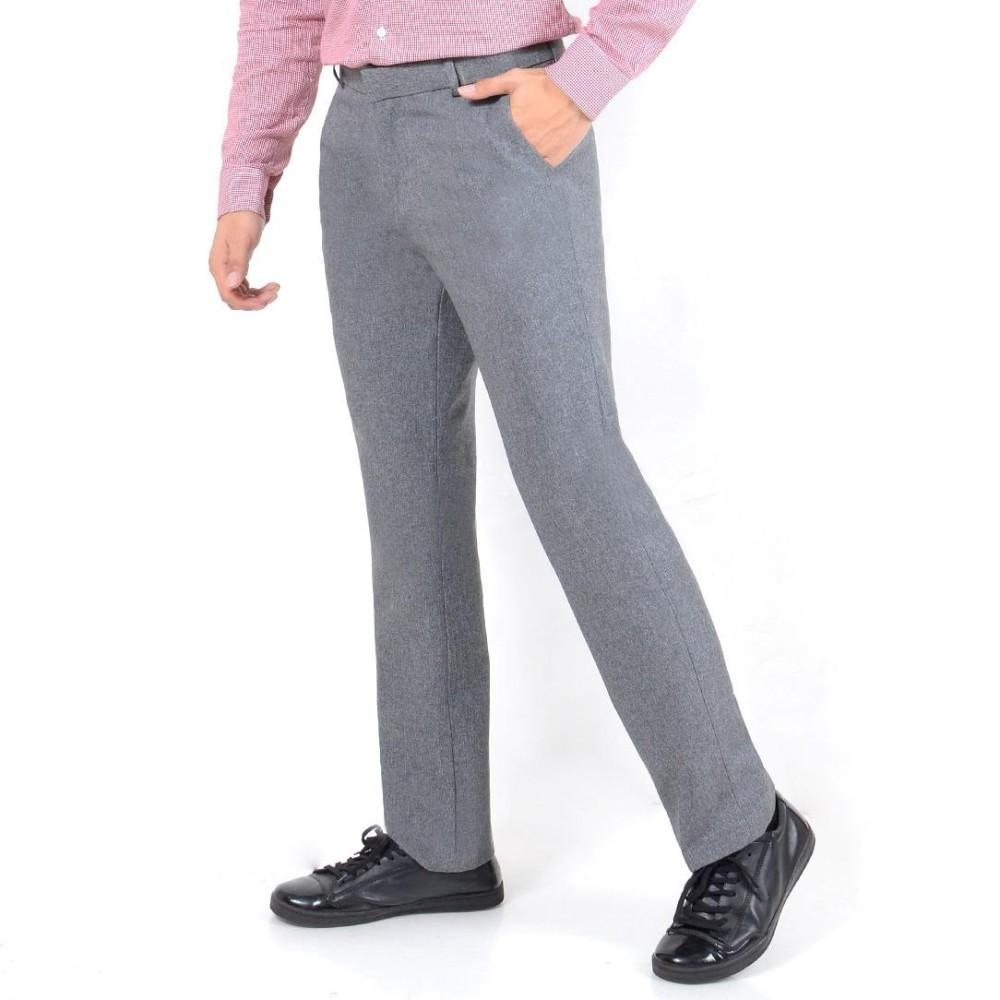 Diskon Besarnusantara Jeans Celana Bahan Formal Kantoran Pria Katun Berkualitas Restleting Kuat Jahitan Rapi Murah Celana Bahan Slim Fit