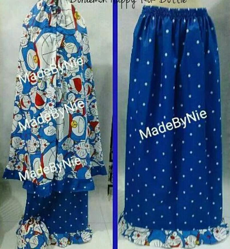 ... mukena doraemon happy polkadot