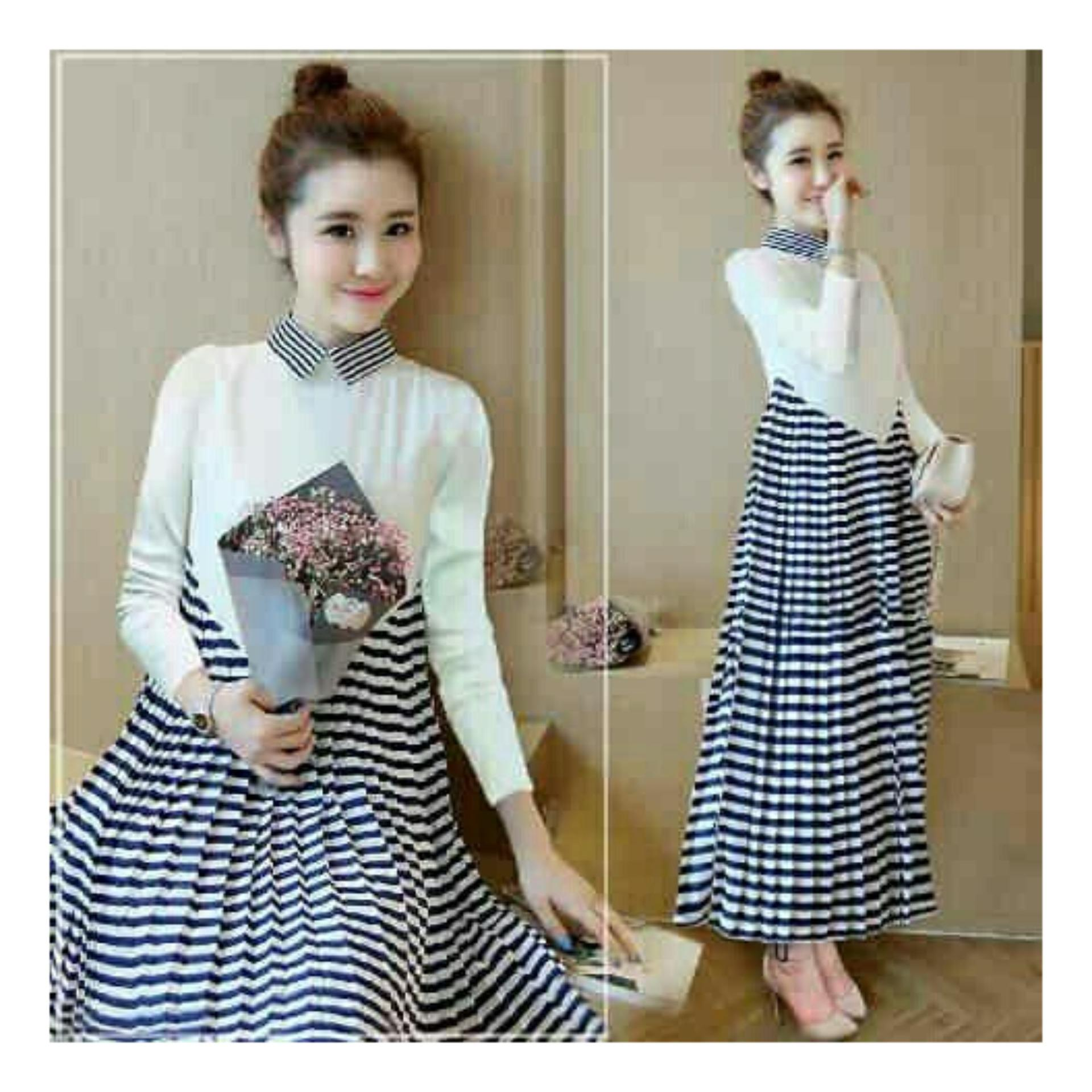 Shopping Yukz Long Dress Wanita MICHAELA / Maxi Dress Wanita / Gaun Panjang Wanita / Gaun
