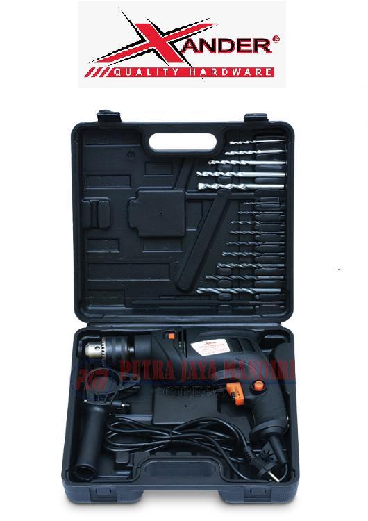 Xander Mesin Bor Beton Tembok Koper (Bolak Balik ) / Impact Drill 13mm with Box
