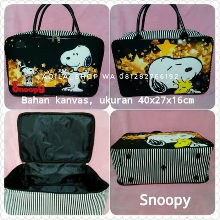 PROMO Travel bag kanvas snoopy uk.besar - czTL2A