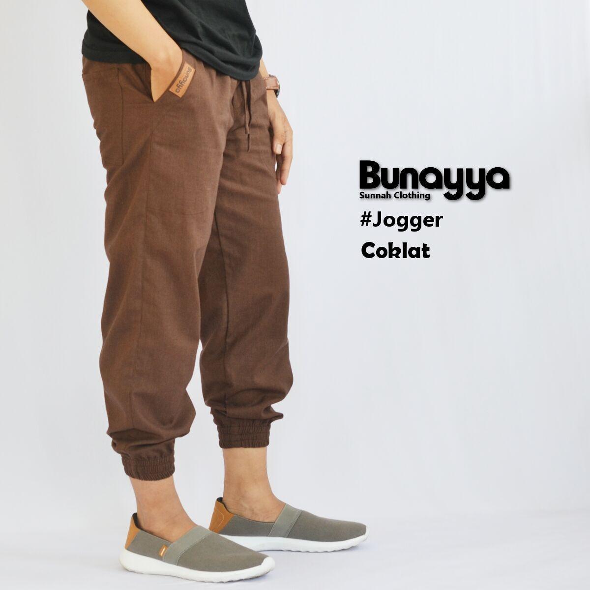 Jogger Pants Original Bunayya Coklat Celana Panjang Pria Joger Pant Diskon Jawa Barat