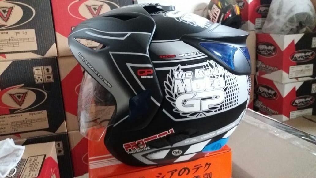 VC Helmet Half Face Double Visor (2 kaca) SNI busa sangat nyaman not INK