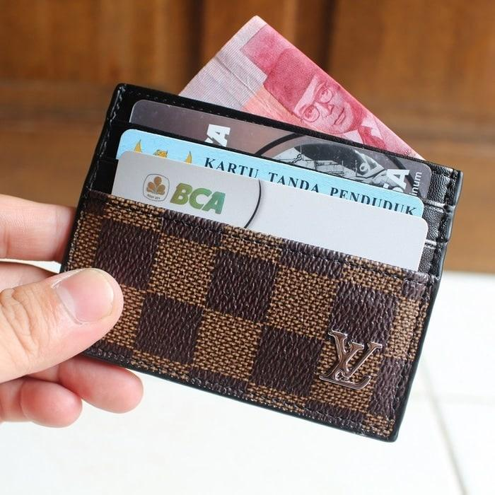 DOMPET KARTU CARD HOLDER ASLI KULIT IMPORT LOUIS VUITTON LV CC06 BROWN