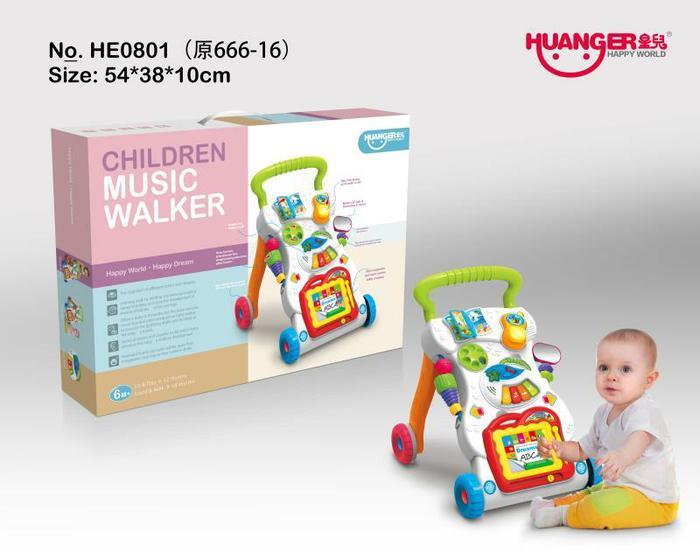 Baby Walker HE0801 Push Walker Musical Alat Bantu Bayi Belajar Jalan