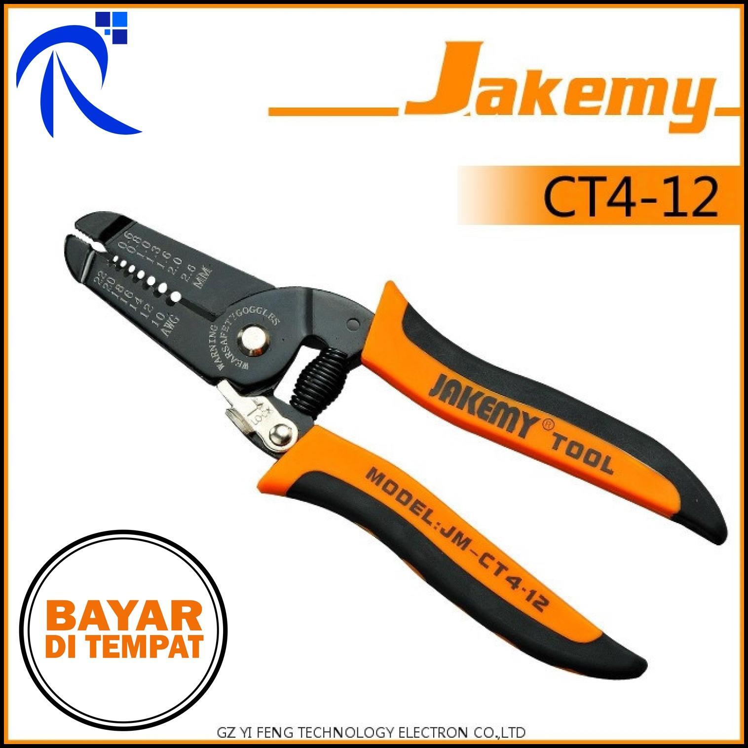 Jakemy Wire Cutter Pliers - JM-CT4-12 - Jingga / Orange - Desain