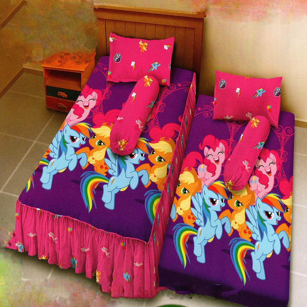 Kintakun Dluxe Sprei Single 2in1 Motif Classic Little Pony 120x200 cm