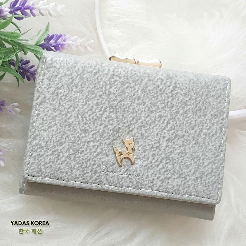 Yadas Korea Yumi Dompet Wanita Lipat 3 - Soft Grey