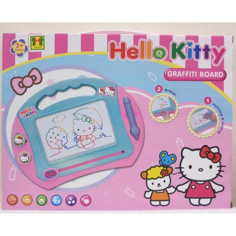 TIMMY Graffiti Board Hello Kitty Drawing Board Papan Tulis Magnet