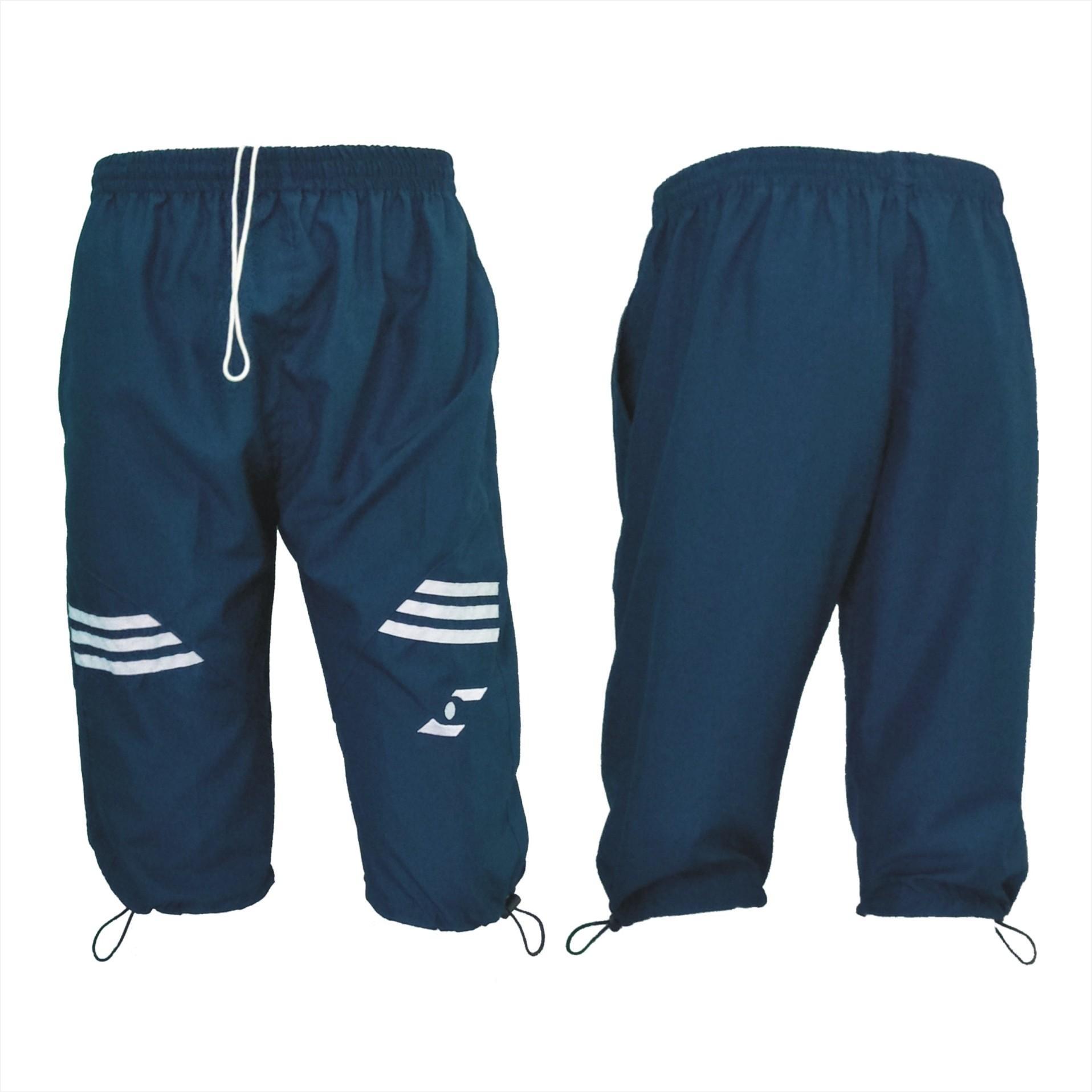 Celana Sontok 3/4 TE 348 Biru dan Hitam Tiga perempat Training