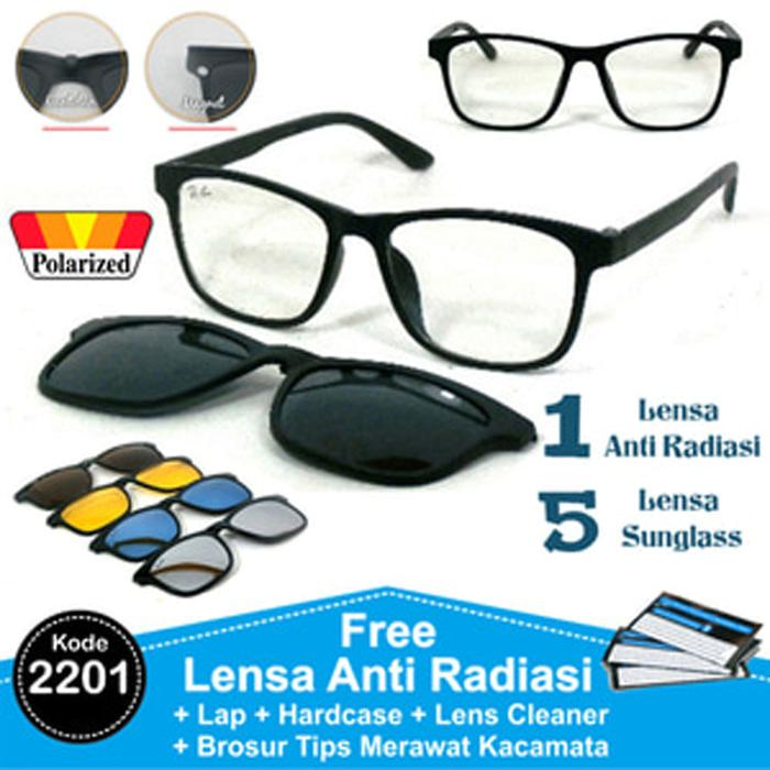 Frame Kacamata Minus Baca Clip On 5 Lensa Sunglas Hitam Pria  PolarizedIDR298500. Rp 298.500 314c7983e6