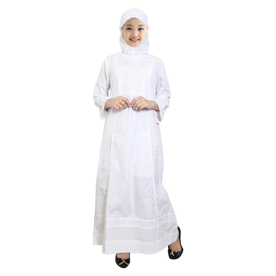 Fayrany Busana Muslim Anak Gamis Putih FGP-003A - Putih - 2
