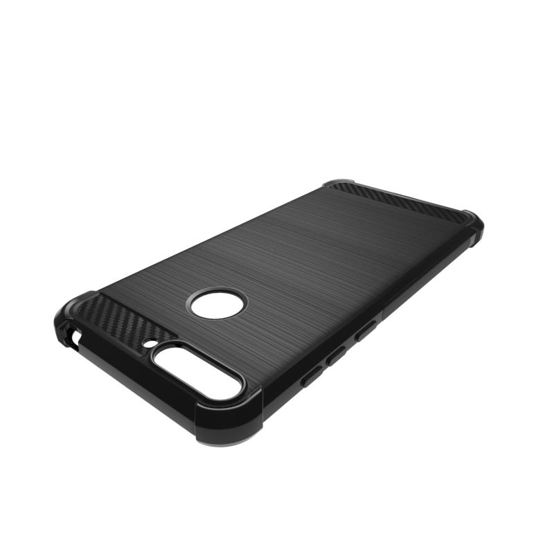 Detail Gambar Caselova Corner Protection Cushion Premium Carbon Shockproof TPU Case For Huawei Honor 7A - Hitam + Gratis Full Cover Tempered Glass Warna ...