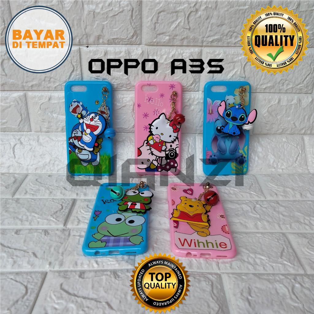 Case Oppo A3S Softcase Karakter Kartun Plus Gantungan Boneka Lucu