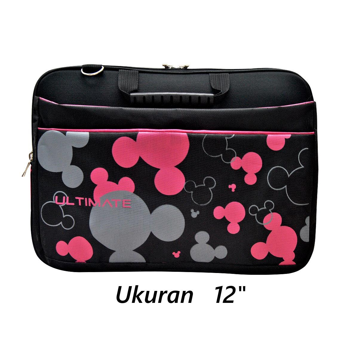 Iklan Rame Ultimate Tas Bag Cover Softcase Backpack Laptop Pria Wanita Triple Mickey Hitam
