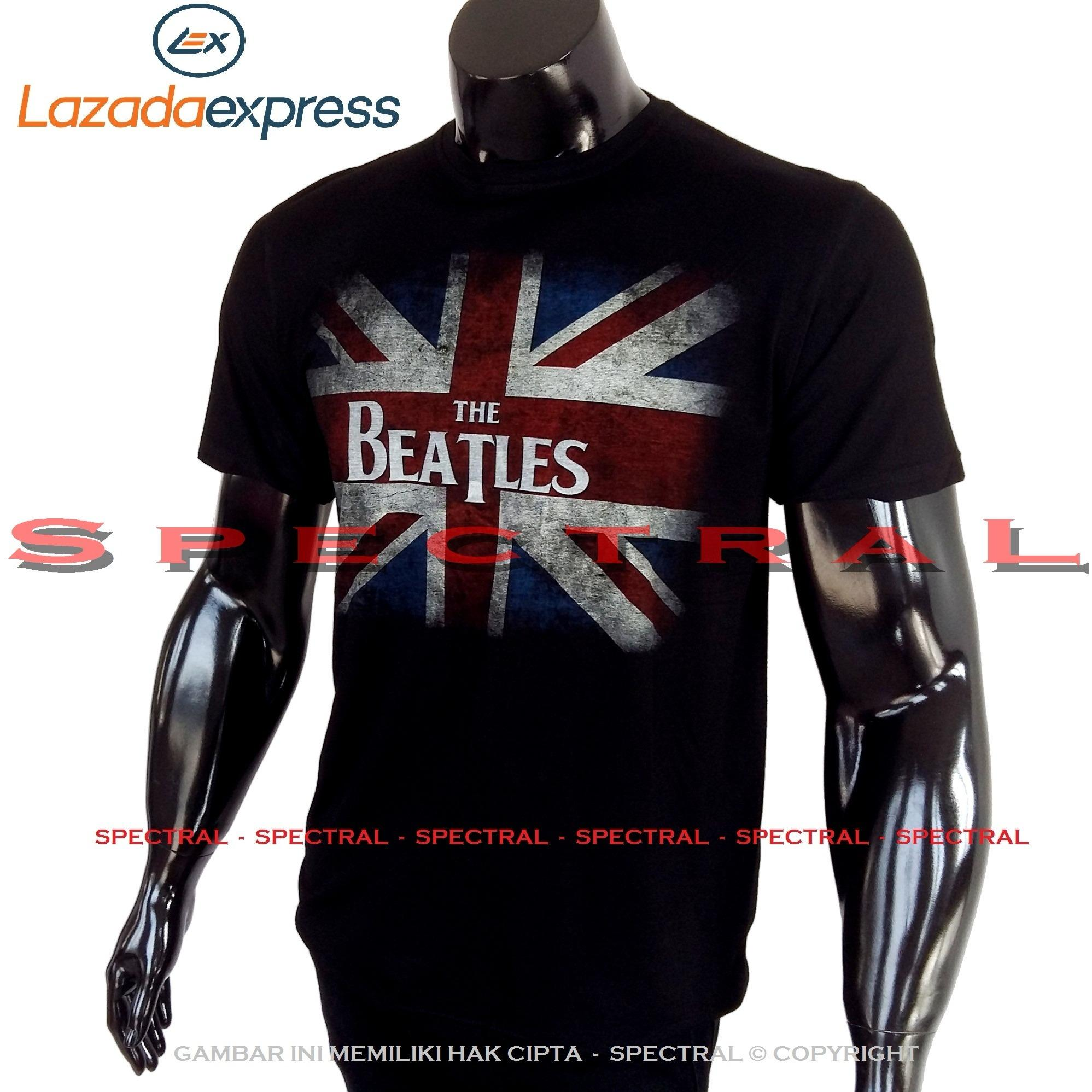 Spectral – THE BEATLES 100% Soft Cotton Combed 30s Kaos Distro Fashion T-Shirt Atasan Oblong Baju Pakaian Polos Shirt Pria Wanita Cewe Cowo  Lengan Murah Bagus Keren Jaman Kekinian Jakarta Bandung Tumblr Hitam Gambar Musik Pop Rock Metal Artis Band Gitar