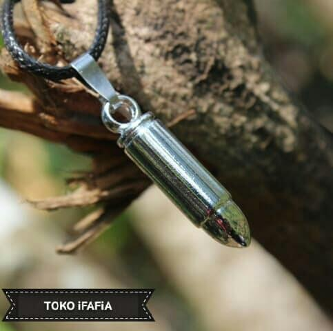 Detail Gambar Kalung Tali Bandul Peluru KTBP-06 Terbaru