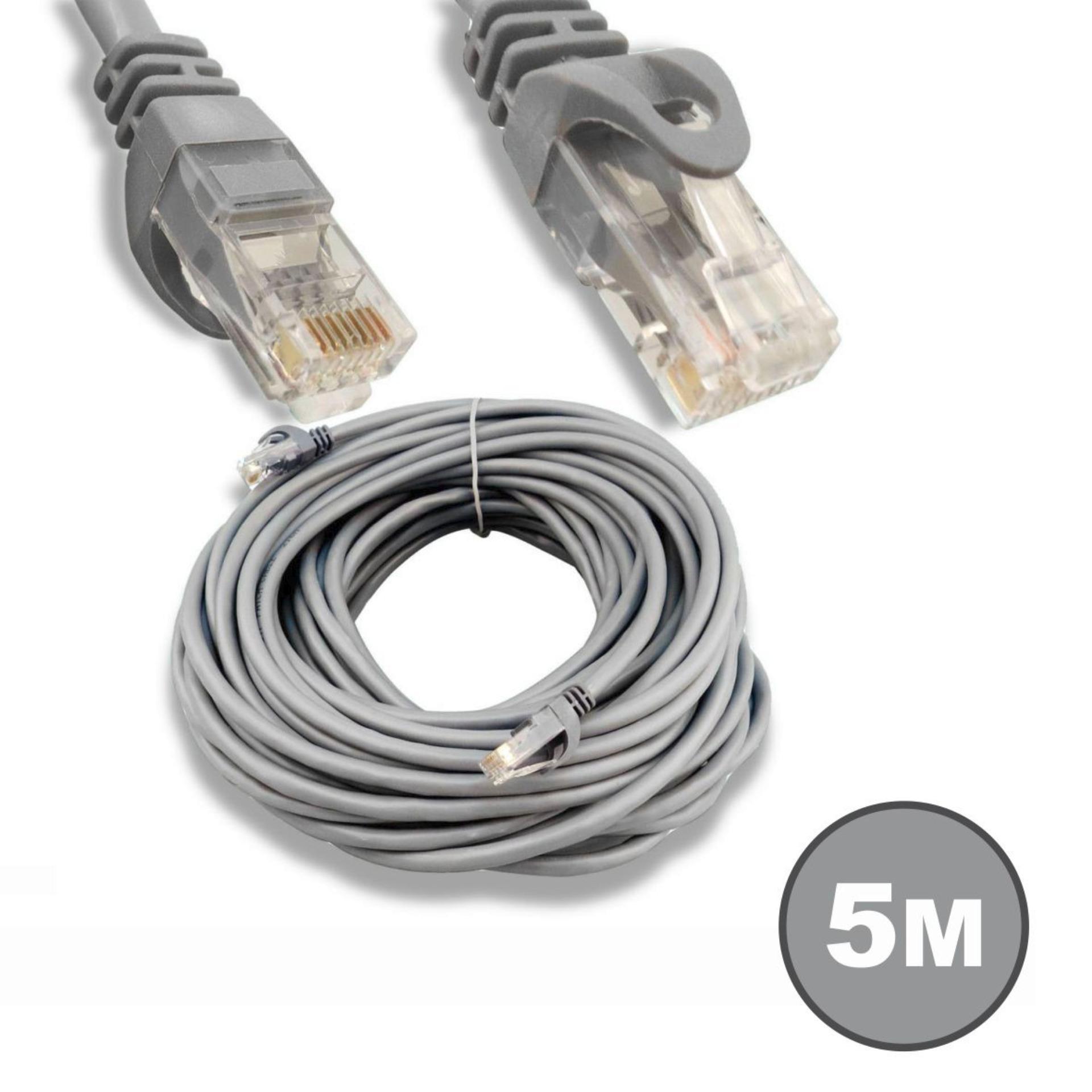 weitech kabel lan 5m cat 5 / kabel utp 5 meter pabrikan high quality