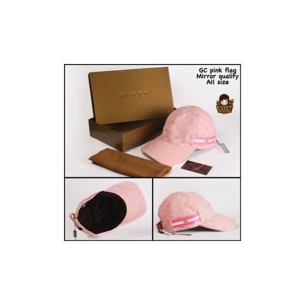 Topi Gucci Pink Flag Mirror Topi Fashion Topi Cowok Topi Cewek