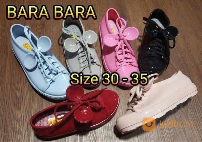 Jelly Shoes Bara Bara Sepatu Wanita Kets Karet Import Casual Tali 1883 Warna Random