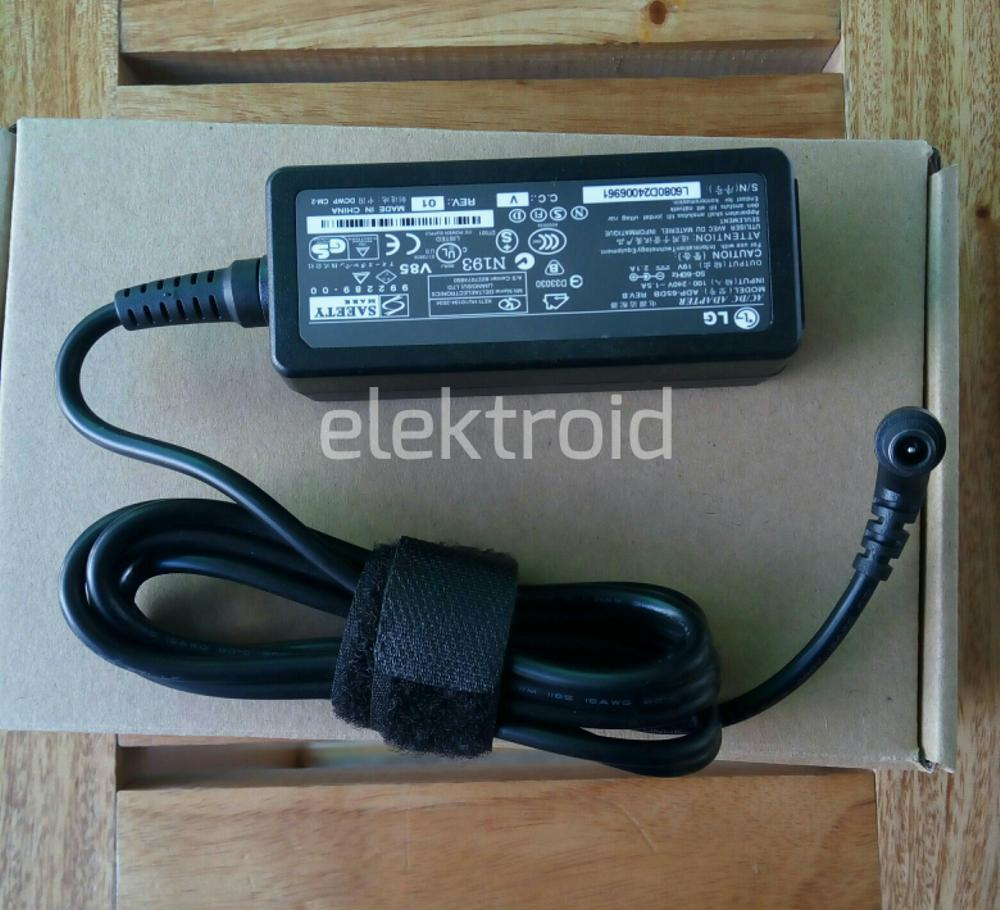 Adaptor Original LG Monitor LCD LED / TV 19V --- 2.1A DC.  - ( Jarum )  Model  ADP-65DB  di lapak elektroid elektroid