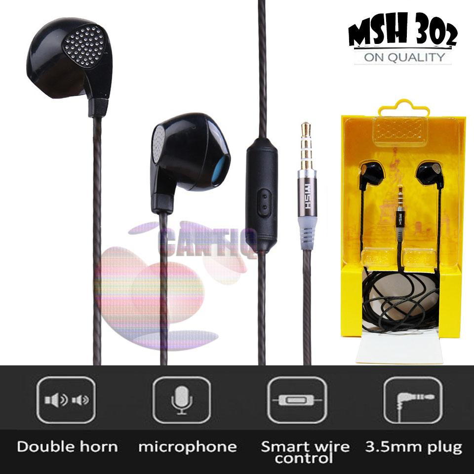 Headset MSH 302 Stereo 3.5mm In-ear Earphone NON Earbuds with Microphone For PC Android In ear for Samsung Headset For Xiaomi Handsfree jack stereo mega bass earphone mp3 earphone mp4 earphone for lenovo earphone for oppo