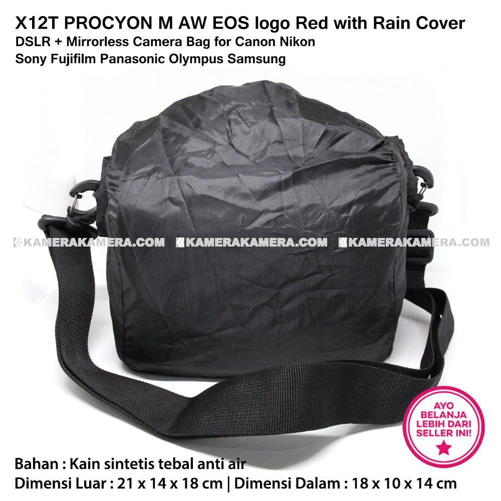 X12t Procyon Xs Logo Red With Rain Cover Mirrorless Camera Bag Sdv Mr 502c 05 M Aw Eos